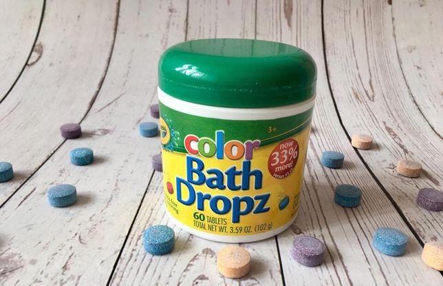 Кольорові шипучі таблетки для купання Crayola Color Bath Dropz, 60шт