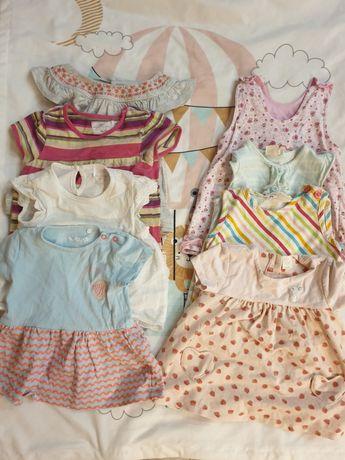 Zestaw sukieneczek bawełnianych rozmiar 68