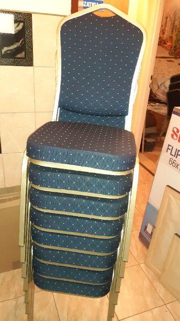 Krzesło miękkie na stelażu metalowym
