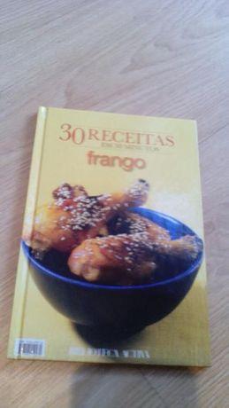 livro culinária 30 receitas de frango