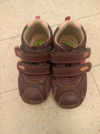 Кожаные ботинки на девочку Papaya