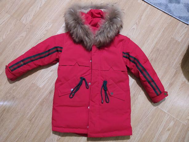 Куртка пухова, зимова для дівчинки