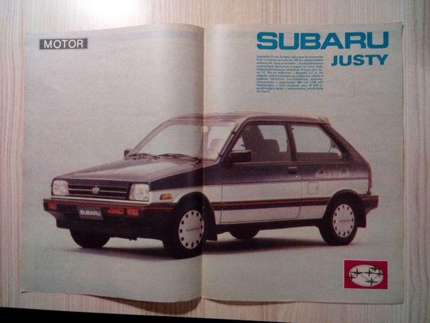 Plakat Poster Subaru Justy 4WD 34cm x 48cm Samochody Japan Cars Auto
