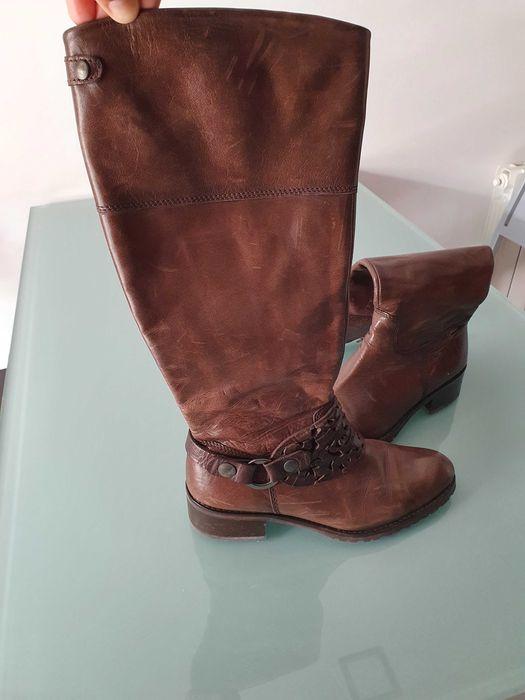 Vendo botas pele castanhas tamanho 38 em excelente estado Cidade Da Maia - imagem 1
