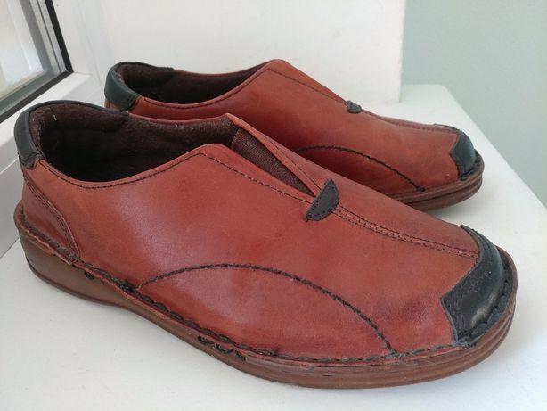 Кожаные туфли Loretta 38р 24см как новые под реставрацию