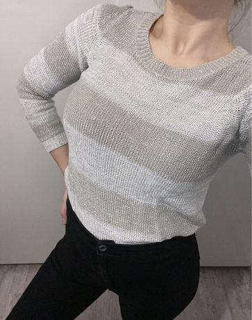 Szaro-srebrny sweter Reserved