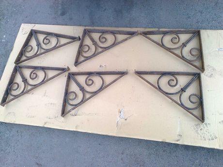 Kute podpory półek wsporniki elementy dekoracyjne stare solidne