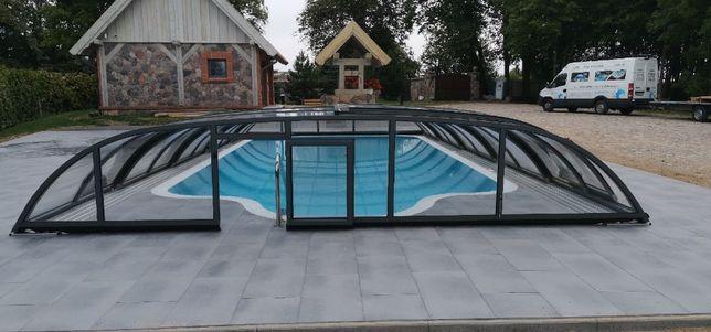 Zadaszenie basenowe, Zadaszenie na basen, baseny, przykrycie basenowe