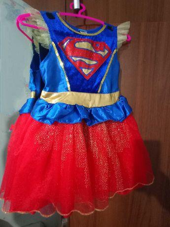 Платье супермен,карнавальное платье