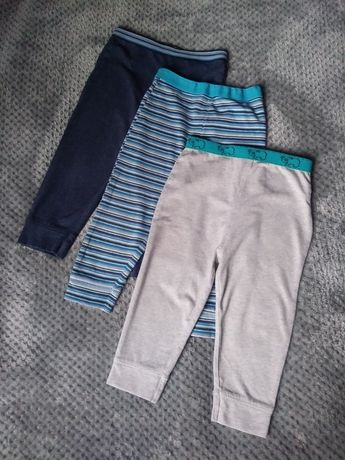 3-pak spodnie/leginsy rozm.74/80