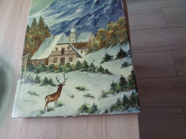 kafel jeleń dom góry wys -45cm duzy malowany