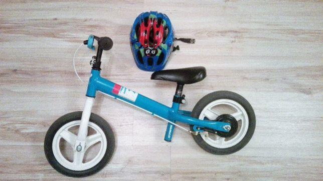 Rowerek biegowy BTWIN Niebieski + Kask