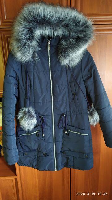 Пальто парка куртка пуховик цвет джинс