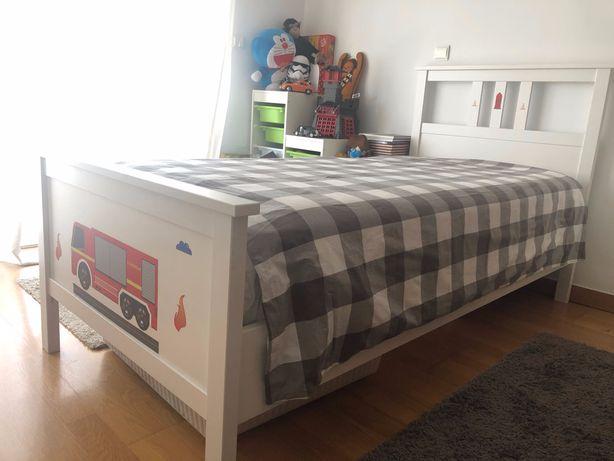 Cama Ikea como nova Hemnes - solteiro