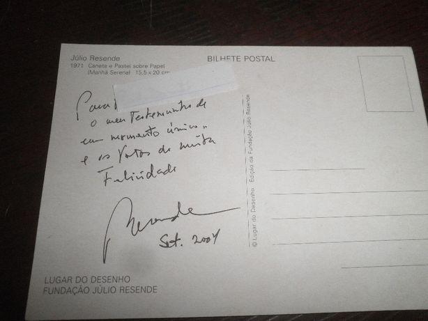 Júlio Resende-pintor-autógrafo em postal