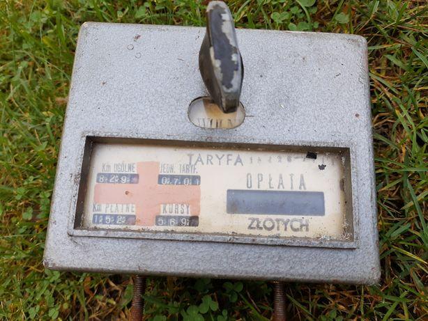 Taksometr mechaniczny PRL zmiennicy. Vintage