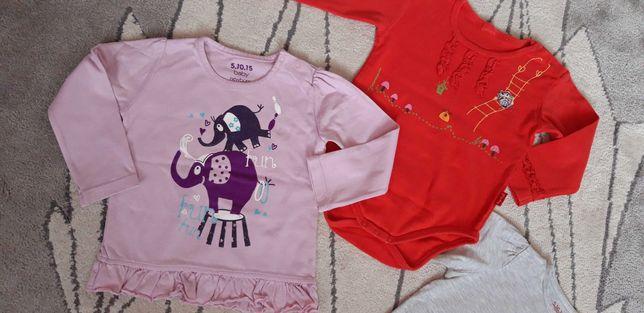 Zestaw bluzki dla dziewczynki roz. 80 marka 5.10.15, tup tup