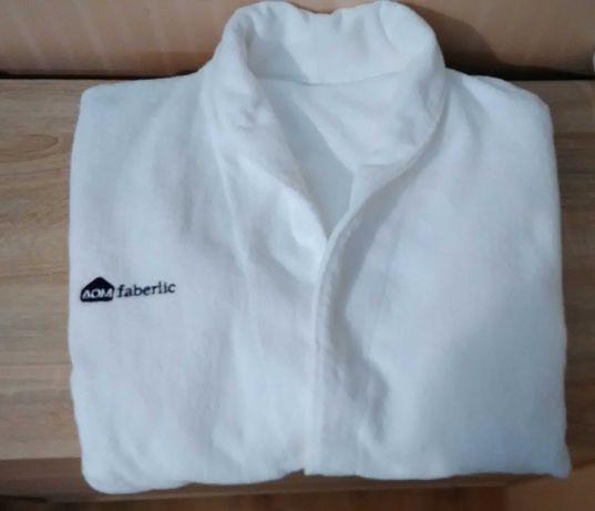 Банный махровый халат.Белый. Размер 48-50