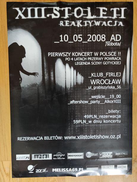 Plakat - XIII Stoleti koncert we Wrocławiu 10.05.2008r.
