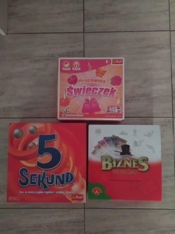 Gra planszowa 5 sekund + Biznes po polsku + fabryka świeczek