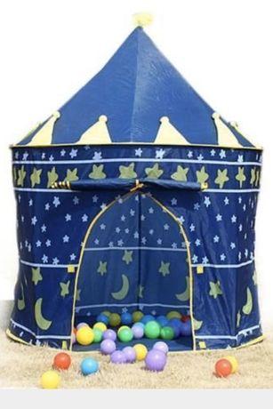 Namioty dla dzieci niebieski i rozowy