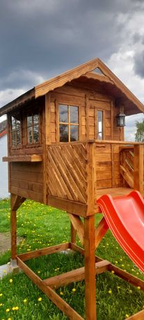 Domek dla dzieci, domek drewniany, plac zabaw