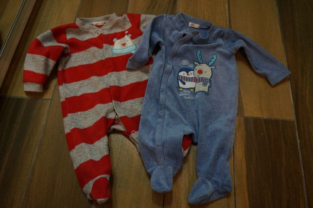 Zestaw dziecięcych piżamek piżam 62 pajacyki pajacyk kombinezon