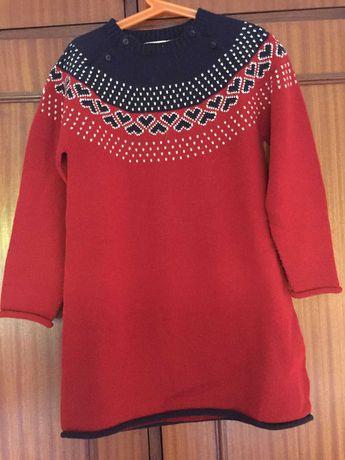 Vestido Zippy Malha  Vermelho - 7/8 Anos