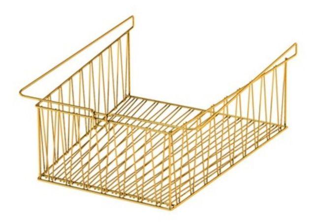 IKEA kosz druciany wkład do Kallax złoty mosiądz
