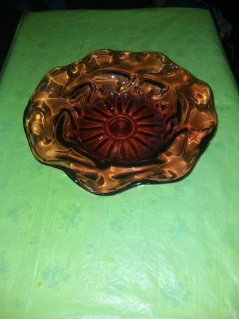Бордовая ваза(богемное стекло)