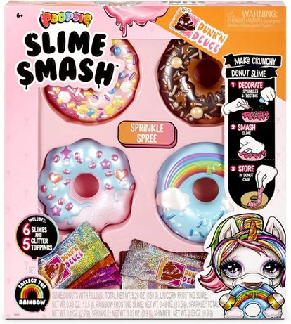 Великий набір Poopsie slime smash Crunchy Donut пончик слайм антистре
