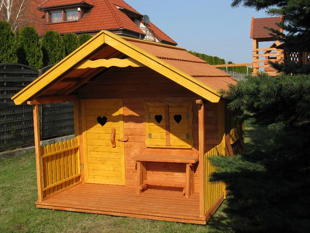 Duży domek z tarasem dla dzieci 2,5x2,0m