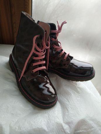 Модні черевички шкіряні ботинки дівчинки для  36р