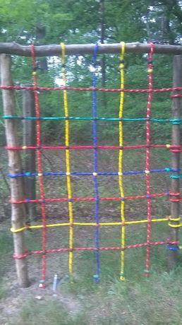 Siatka do wspinaczki wspinaczkowa 1,5 x 2 m lina 16 mm małpi gaj plac