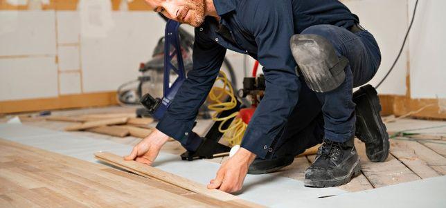 Układanie montaż paneli podłogowych deski barlineckiej. Solidnie