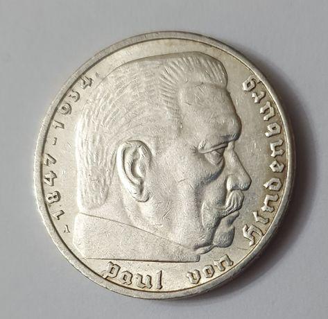 Moneta Niemcy 1936r Hindenburg super