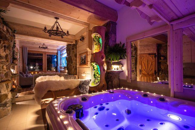 Apartament Deluxe z jacuzzi sauna 2 sypialnie urodziny nocleg Zakopane