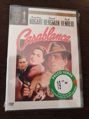 """DVD """"Casablanca"""", novo e selado"""