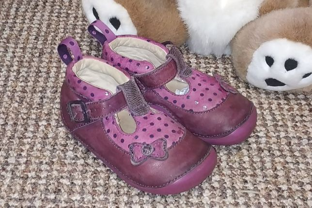Туфли пинетки Clarks натуральная кожа. Размер 21
