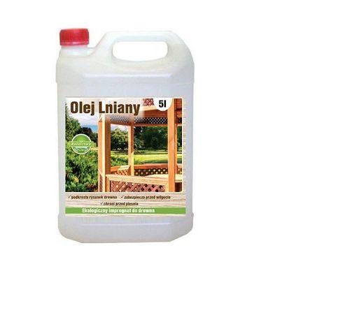 OLEJ LNIANY 5l - NATURALNA impregnacja, konserwacja drewna