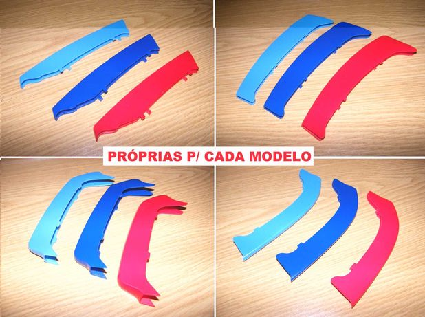 Tiras frisos grelha BMW Série 1 | 2 | 3 | 4 | 5 | X1 | X3 X4 | X5 X6
