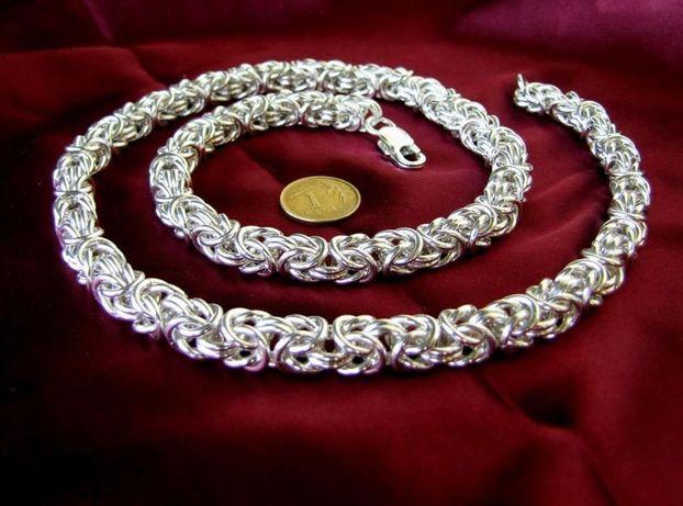 55cm 145g 8,3mm !! Łańcuch królewski srebro 925 od jubilera 50,60,70cm