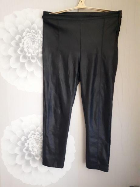 черные брюки из эко кожи