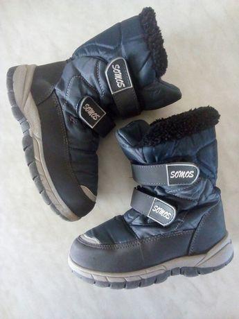 Зимние ботинки, термоботинки на мальчика 29 размер-18.5 см стелька