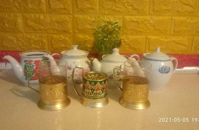 чайник для заварення,підставки для стакана