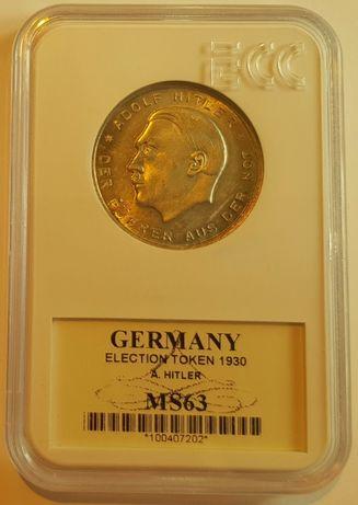 Medal / token z roku 1930 bardzo wysoka nota MS 63