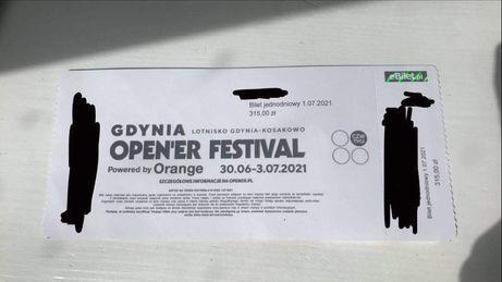 Bilet jednodniowy Opener Festival 2021