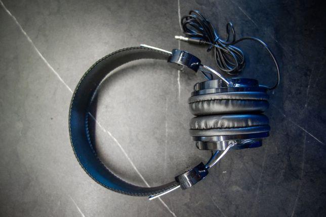 Słuchawki nauszne czarne bez logo