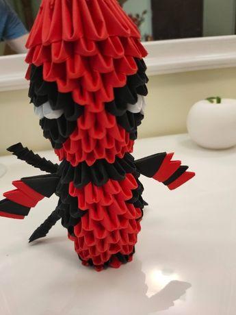 Ręcznie robione origami modułowe - Deadpool