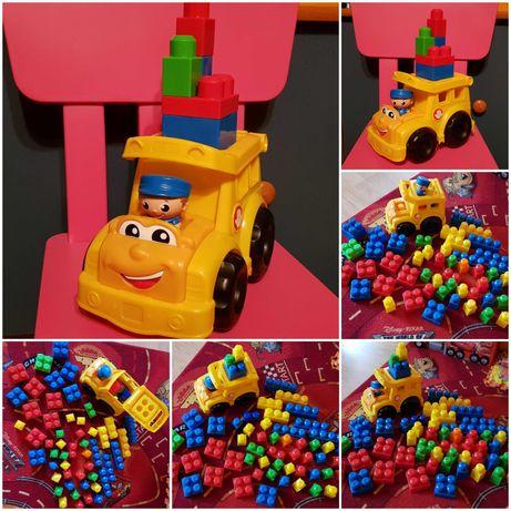 Mega Bloks Auto z kierowcą + 55 klocków